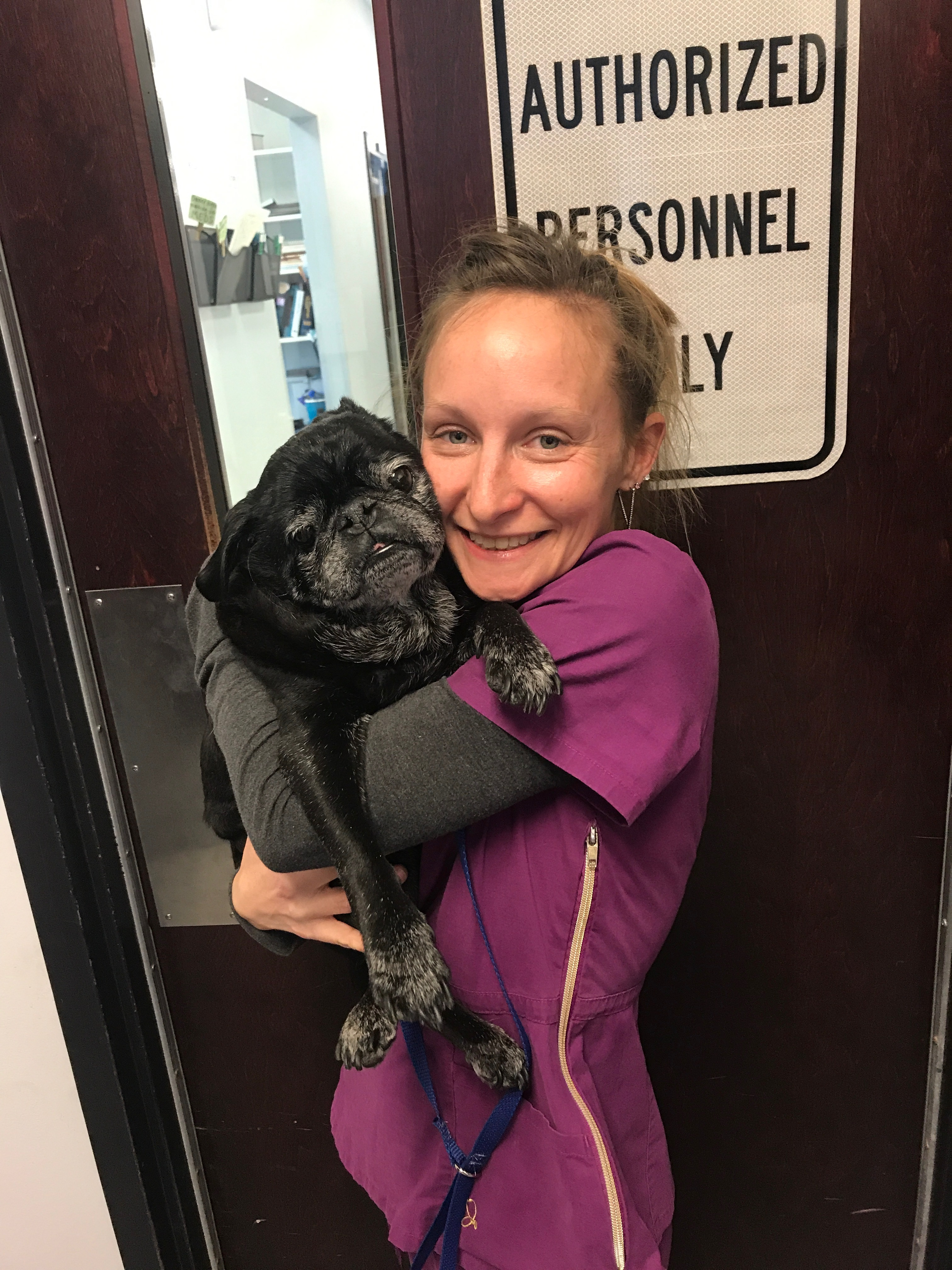 Megan (one of our technicians) and BooBoo